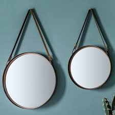 contemporary round wall mirrors