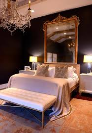 gold baroque mirror over bed french