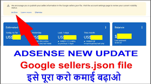 how to fix google sellers json file
