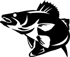Walleye Striking Wall Decal Fish Silhouette Art Fish Art