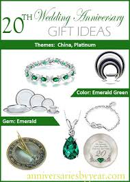 20th anniversary gifts