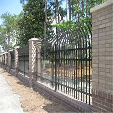 China Modern Design Anti Climb Iron Security Fencing For Garden Factory Yard Residential House China Fence Steel Fence