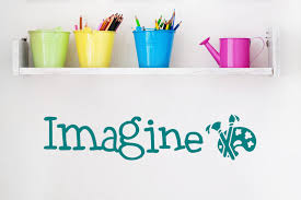 Imagine Wall Decal Artist Wall Decal Craftroom Decor Imagine Wall Art Imagine Decal