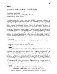PDF) La inmigración a la Argentina en los nuevos materiales digitales