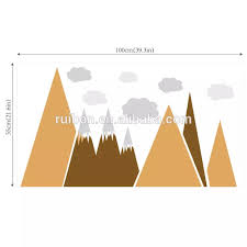 Mountain Wall Decal Nursery Wall Stickers Mountain Mural Peel And Stick Mountains Buy Kids Mountain Wall Stickers Easy Peel Off Wall Stickers Printable Wall Decal Sticker Product On Alibaba Com