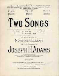 Two Songs - Stars and Adoration - Songs in the key of F Major for ...