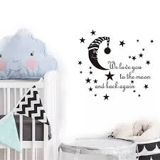 I Love You To The Moon And Back Vinyl Wall Decal Quote Sticker Decor Inspiration