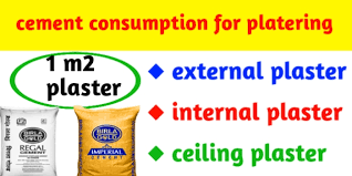 cement consumption in plaster 1 4 for