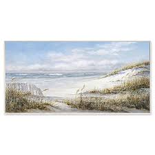 Portfolio Arts Group Beach Fence 58 Inch X 29 Inch Canvas Wall Art Bed Bath Beyond