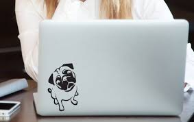 Laptop Sticker Computer Stickers Laptop Decal Dog Stickers Pug Decals Car Stickers Personalized Stick Laptop Decal Computer Sticker Laptop Stickers
