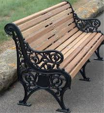 cast iron bench ends for outdoor