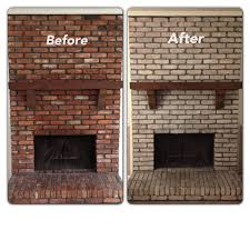 how to clean old brick fireplace