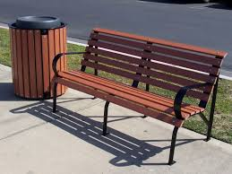 Buy L-Shaped ADA Wood Park Bench - 80 In. Online   Crowd Control Warehouse