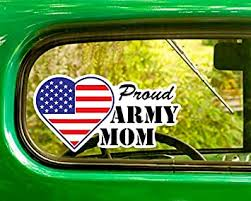 Amazon Com 2 Proud U S Army Mom Sticker Decal For Window Car Jeep 4x4 Truck Laptop Bumper Rv Computers Accessories