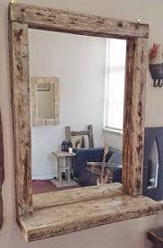 chunky rustic driftwood salon mirror