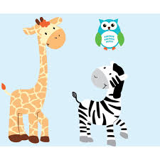 Custom Zebra Wall Decor And Owl Wall Decals For Kids