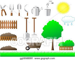 Stock Illustration Set Of Tools For House And Garden Clipart Drawing Gg59588991 Gograph