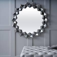 serene varanasi silver sunburst mirror