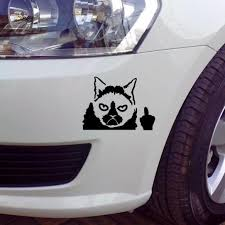 Funny Grumpy Cat For Auto Car Bumper Window Vinyl Decal Waterproof Sticker Decor Auto Parts And Vehicles Car Truck Graphics Decals Magenta Cl