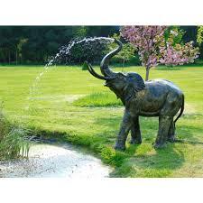 elephant water feature garden sculpture