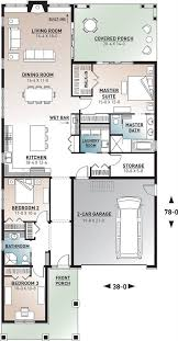bungalow house plan with 3 bedrooms and