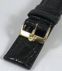 omega 18k gold 16mm logo buckle on 18mm
