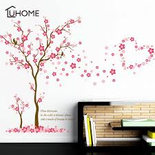 Removable Pink Blossom Flower Vinyl Art Decal Wall Home Sticker Room Decor Plum Wall Stickers For Kids Rooms Wall Decals Wall Stickers Aliexpress