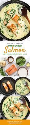 pan seared salmon with creamy garlicky