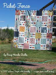 Picket Fence Quilt Pattern In 6 Sizes From Wall To King Layer Cake And Yardage Friendly Pdf Pattern Quick An Easy Quilts Layer Cake Quilts Quilt Patterns