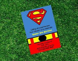 Superman Birthday Printable Invitation Super Heroe Invitation