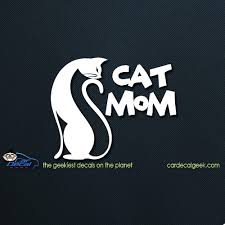 Cat Mom Car Decal Graphic Window Stickers