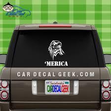 Usa Merica Eagle Head Car Window Decal Sticker Graphic