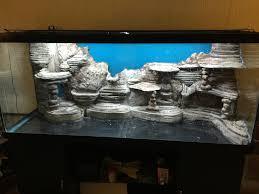 diy aquarium background paper