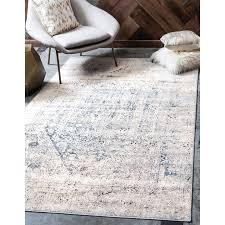 abbeville grey dark blue area rug