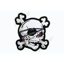 Mrs0603 Skull Pirates Bones Emblem Die Cut Decorative Sticker Decal Motorcycle Dirt Bike Tuning Moto Racing Stickers Shop