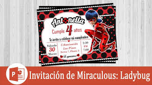 Invitacion De Ladybug En Power Point Youtube