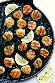 Grilled Lemon Garlic Scallops