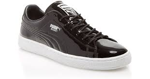 puma basket patent leather sneakers in