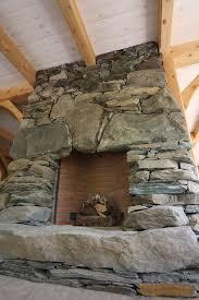 fieldstone fireplace stonework by