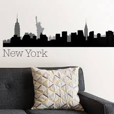 New York Cityscape Wall Decor New York View Ny Wall Art Decal Made In America