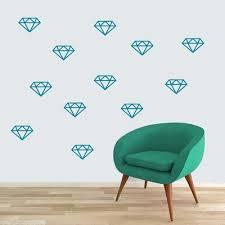 Sweetumswalldecals Diamonds Wall Decal Wayfair Diamond Wall Decals Heart Wall Decal Diamond Wall