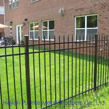 China Steel Picket Fence Ornamental Residential Decorative Metal Garden Fence Wrought Iron Fence China Wrought Iron Fence And Black Color Garrison Fencing Price