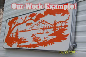 Trout Fishing Mountains Rv Camper 5th Wheel Motor Home Vinyl Decal Sti