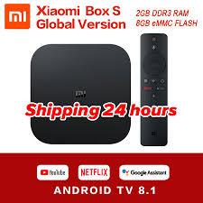 original global xiaomi mi tv box s k hdr android tv ultra hd