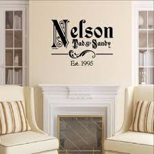 Ornate Family Name Vinyl Decal With Established Year Vinyl Wall Decal Cuttin Up Custom Die Cuts