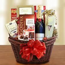 chocolate gift basket wine