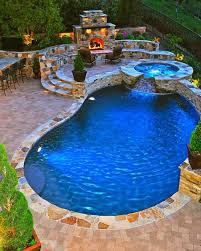 fireplace hot tub and pool a girl can