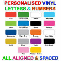 Custom Vinyl Lettering Pre Spaced Sign Writing Words Letters Logos Graphics Ebay