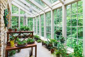 examples of a beautiful sunroom garden