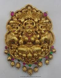 gold lakshmi pendant from vijay
